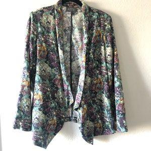 ASTR | Floral open lapel lightweight blazer | S